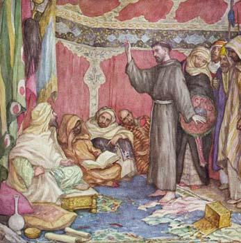 Fransiskus di hadapan Sultan Malik Al Kamil