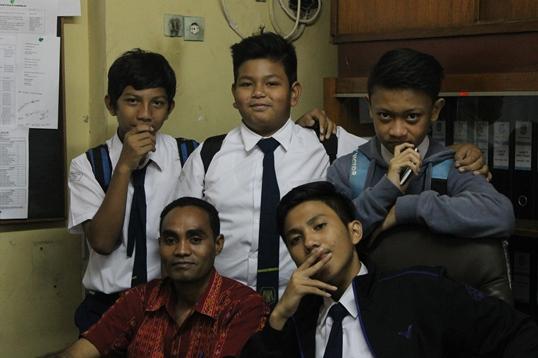 Koordinator bersama TIM Redaksi (Br. Sipri, OFM, Jason, Vio, Anton, dan Bagas)